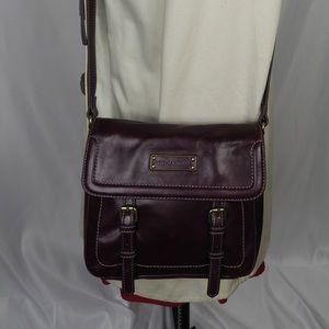 Tignanello Purple Leather Cross body Purse Bag